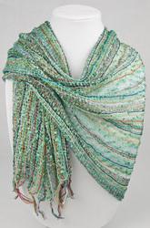 nepal aqua scarf