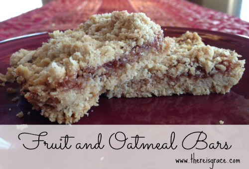 Allergy-friendly Fruit & Oatmeal Bars | thereisgrace.com